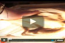 Песочная анимация в исполнении проффессионального художника